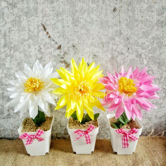 Foto Produk Buket bunga plastik artificial palsu dekorasi bunga shabby - Putih dari Ditari shop
