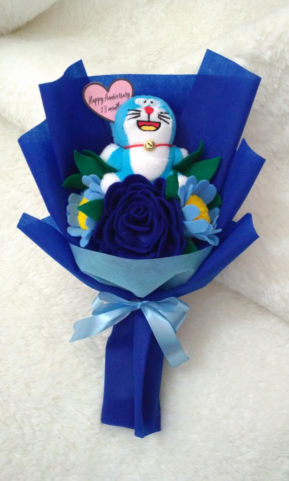 Jual 8 Buket Boneka Doraemon Bunga Flanel Kota Semarang Mariotoko Tokopedia