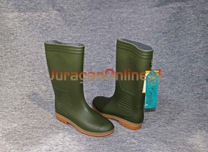 Jual SEPATU BOOT PANJANG HIJAU TYPE 9506 GR - bakoelperkakas  75be96bce2