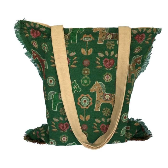 harga The kilisuci batik & craft totebag tenun motif kuda - hijau cream Tokopedia.com