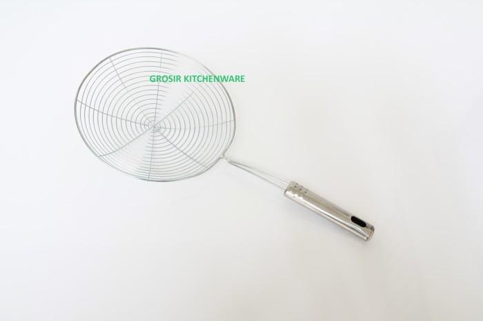 Saringan Parabola 18cm Stainless / Serok Jaring Mie Penggorengan