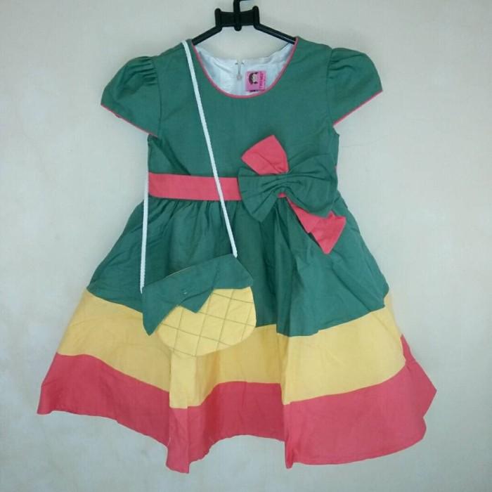Dress Anak Twwo Mix Nanas 3 Warna