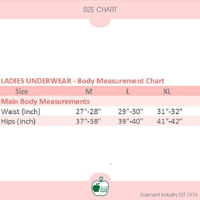 12 Pcs x Arrow Apple - Lusinan - Celana Dalam Wanita - Limited