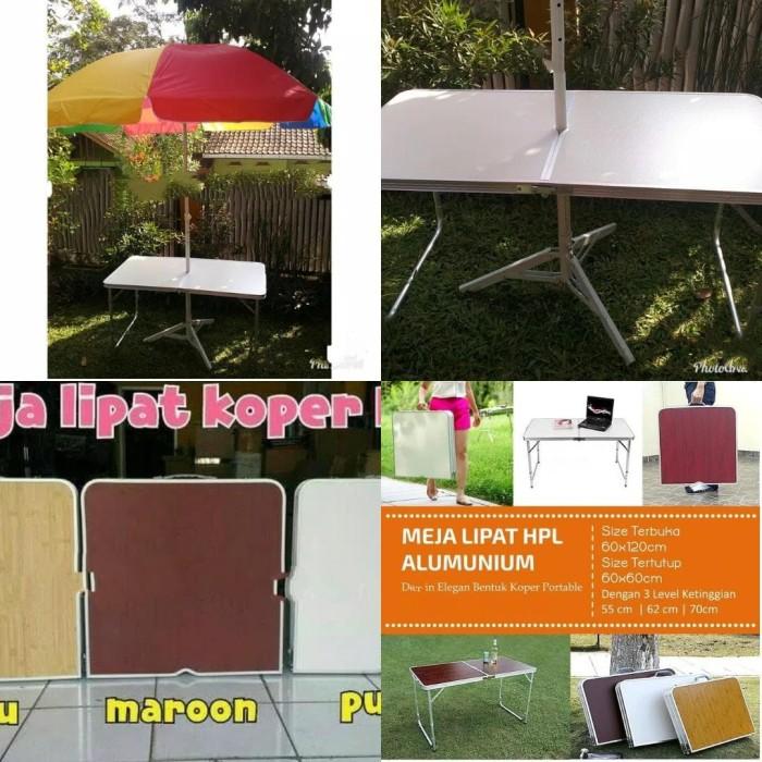 harga Meja lipat portable meja payung tenda meja meja alumunium Tokopedia.com