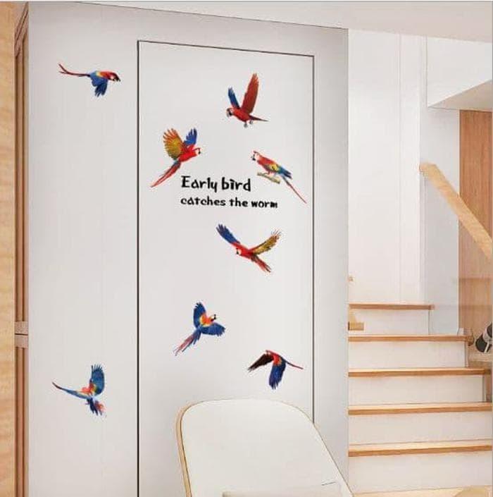 Promo Birds SK7113 - Stiker Dinding / Wall Sticker (50x70) Murah