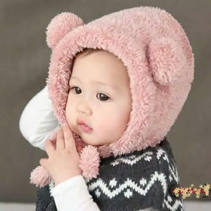 Jual topi kupluk bulu hangat import bayi laki laki perempuan model ... c1920a659d