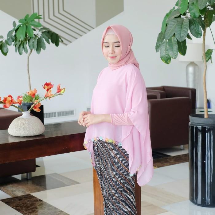 Jual Set Kebaya Muslim Brokat Modern Model Cape Daily Biru Muda Kota Surakarta Butik My Kebaya Tokopedia