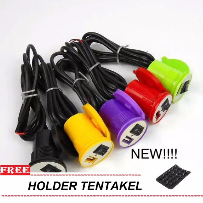 harga Charger handphone motor waterproof usb tombol on-off free tentakel Tokopedia.com