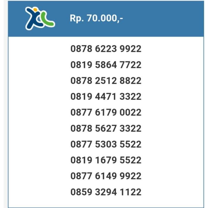 PP53001 - XL double atau kembar NOMOR CANTIK MURAH Bagus & Super Hoki