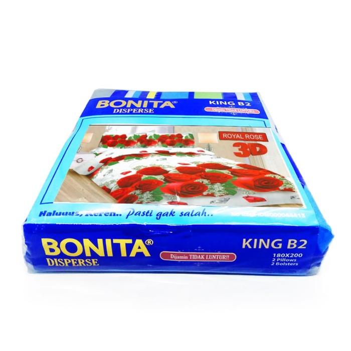 Bonita Disperse Sprei KING B2 Motif ROYAL ROSE 3D - 180 x 200cm