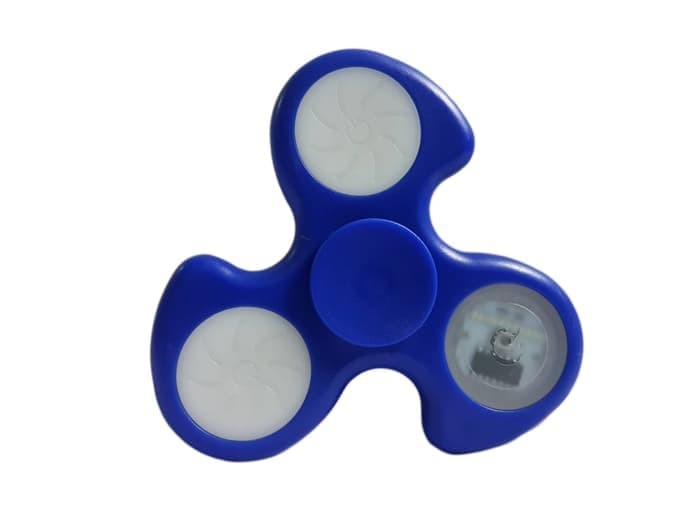 Fidget Spinner dengan lampu 1 LED 3 Motif - Biru