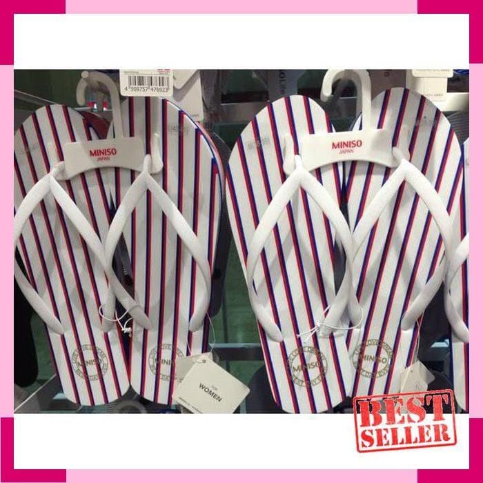 6c87024a974 Jual Japan Quality - Sendal Wanita Salur Flip FLop Miniso Import ...