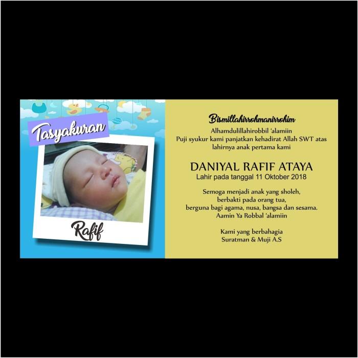 Jual Kartu Ucapan Syukuran Beri Nama Bayi Kab Bogor Pradhana Printing Tokopedia