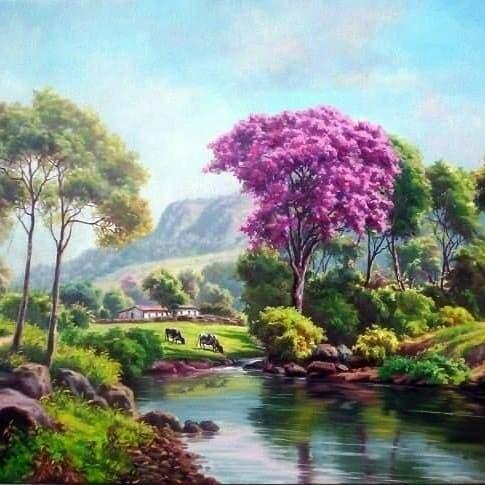 62 Koleksi Lukisan Pemandangan Yang Indah Dan Mudah Gratis