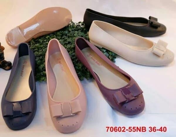 9edd5552c Jual Bara bara jelly shoes flat shoes sepatu kerja hitam import - Navy, 39  - bandar baru | Tokopedia