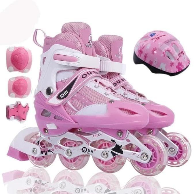Jual New Sepatu Roda Anak Fullset (Body Protecktor +Helm)   Inline ... ada59c92fb