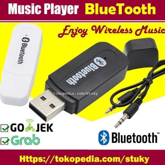 New Usb Bluetooth Audio Music Receiver Usb - Putih Berkualitas