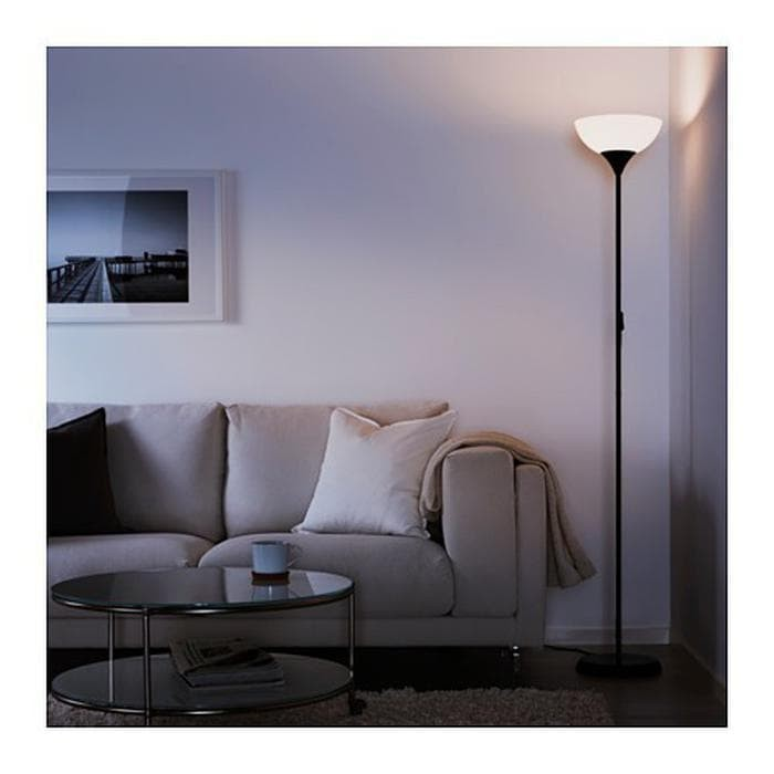 IKEA NOT - Lampu lantai sorot atas hitam-putih Limited