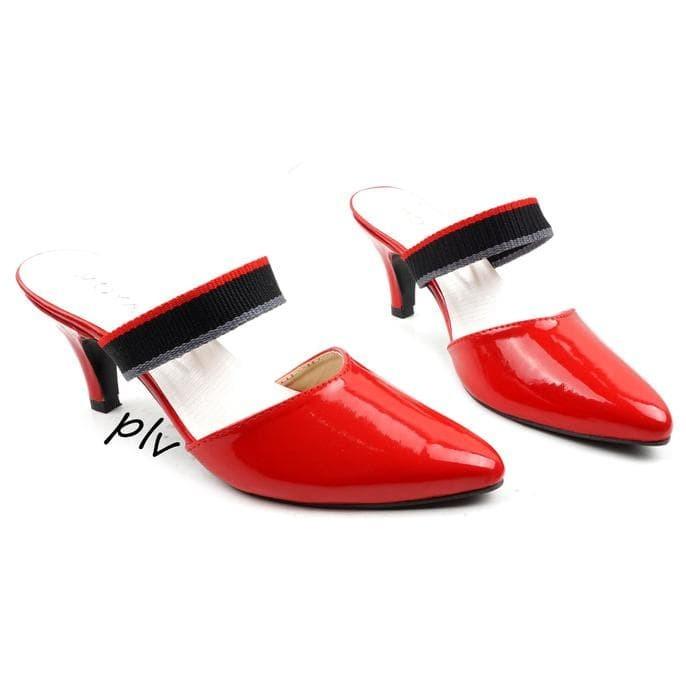 sale Pluvia - Sepatu High Heels Pantofel Kerja Pesta Wanita ML01 -