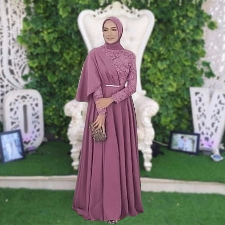 Maxi Yuniar Baju Pesta Gamis Pesta Muslimah Kebaya Wisuda Dress Brukat