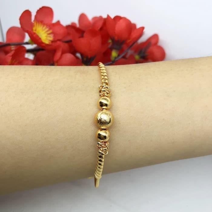 Foto Produk Gelang Bangle Xuping Lapis Emas Asli Supplier Perhiasan Imitasi BB098 dari laymob