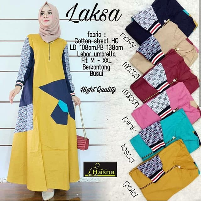 harga Laksa maxy katun stretch grosir maxi dress longdress murah Tokopedia.com