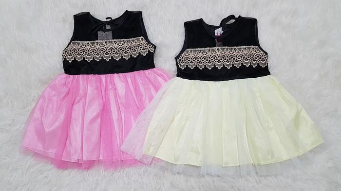 harga Baju dress pesta kondangan anak bayi perempuan brokat renda gold Tokopedia.com