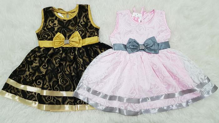 harga Baju dress pesta kondangan anak bayi perempuan brokat pita Tokopedia.com