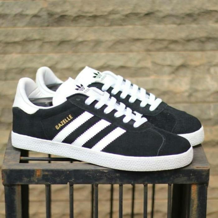 Jual Sepatu Adidas Gazelle Suede Black White Original Bnwb Hitam