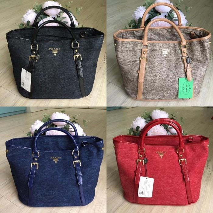Jual TAS PRADA KANVAS TOTE 2in1 - Value Bags  df2f563c9b