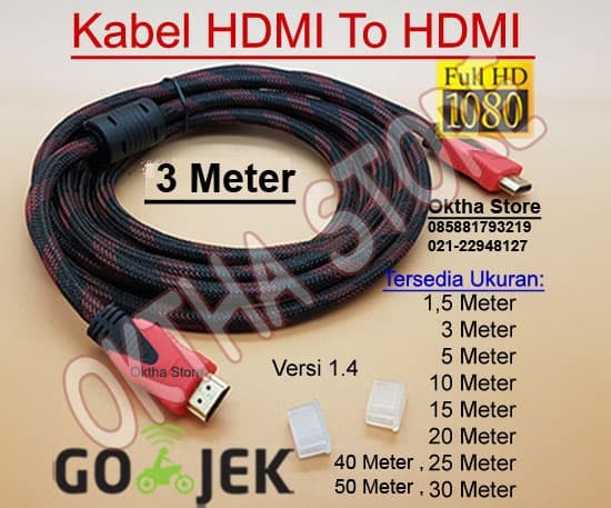 KABEL HDMI TO HDMI 3 METER HIGH QUALITY & HIGH SPEED