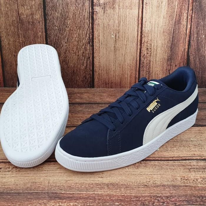 ORIGINAL PUMA SUEDE CLASSIC Peacoat biru tua navy Sepatu Sneakers Pria 83364662c