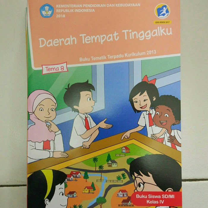 Buku Siswa Tema 8 Kelas 4 Diknas / Daerah Tempat Tinggalku