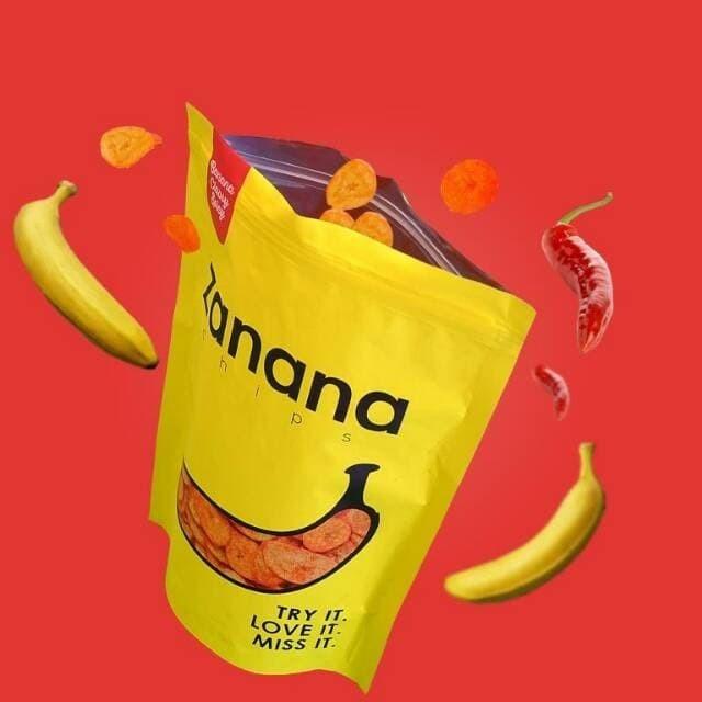 Promo Paket 5 pcs Zanana Chips 200gr Zanana Chips Keripik Pisang Krip