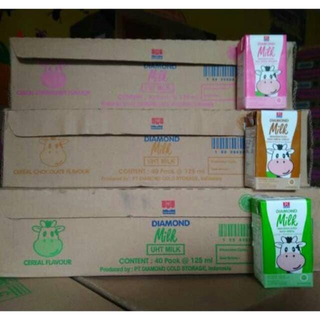 Jual Promo Susu Uht Diamond Cereal 125ml All Variant Karton