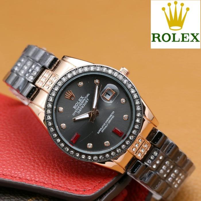 Rolex Jam Tangan Wanita Analog Crystal - Watch Analog Rolex 7