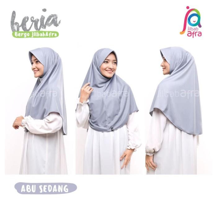 Jilbab Beria Size M - Bergo Jilbab Afra - Hijab Instan Bahan Kaos