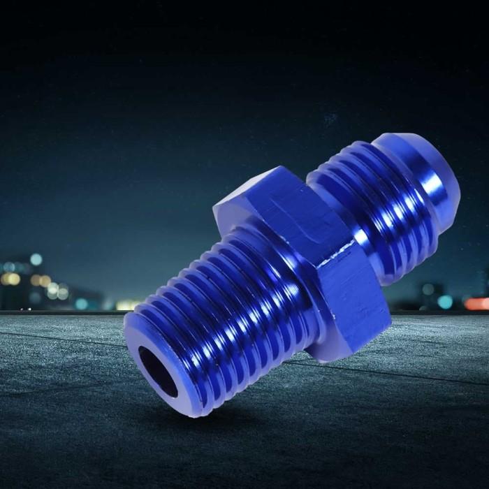 1//2/'/' NPT Male to 1//4/'/' NPT Female Fittings Adapter Aluminum Alloy Adaptor Blue