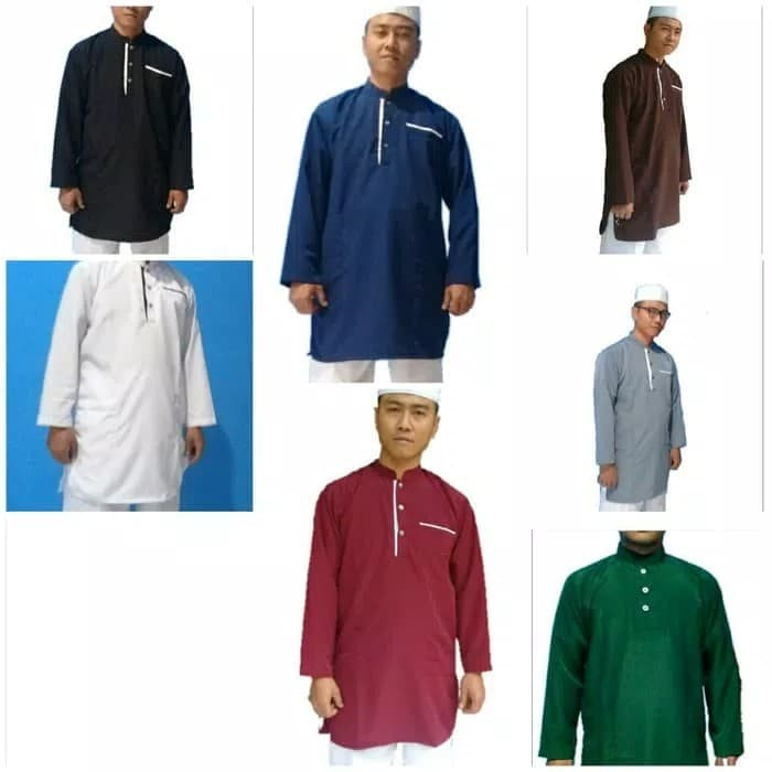 Sngp - baju koko putih panjang /koko gamis panjang hitam