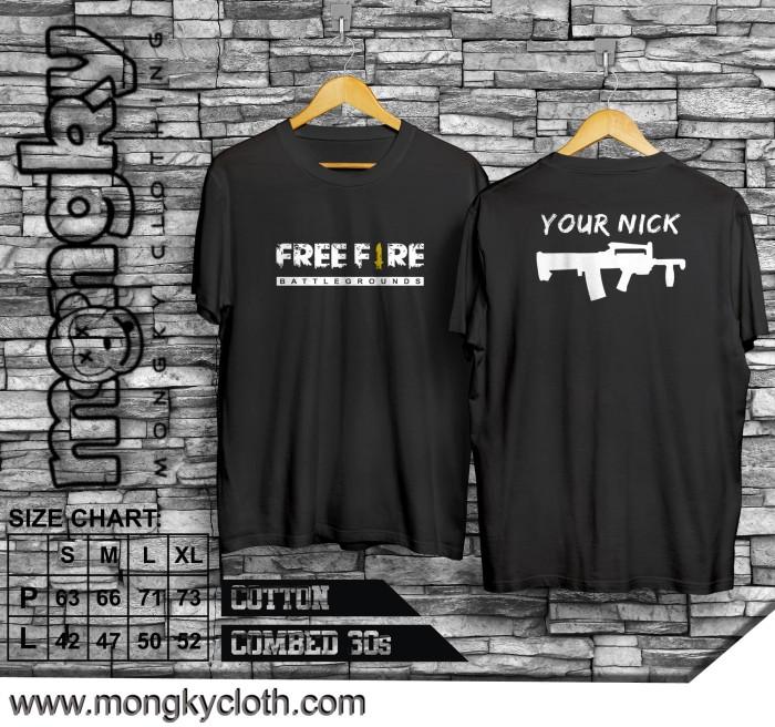Jual Kaos Distro Free Fire Special Custom (Isi Nickname anda) - Kota  Banjarmasin - Mongky Clothing | Tokopedia