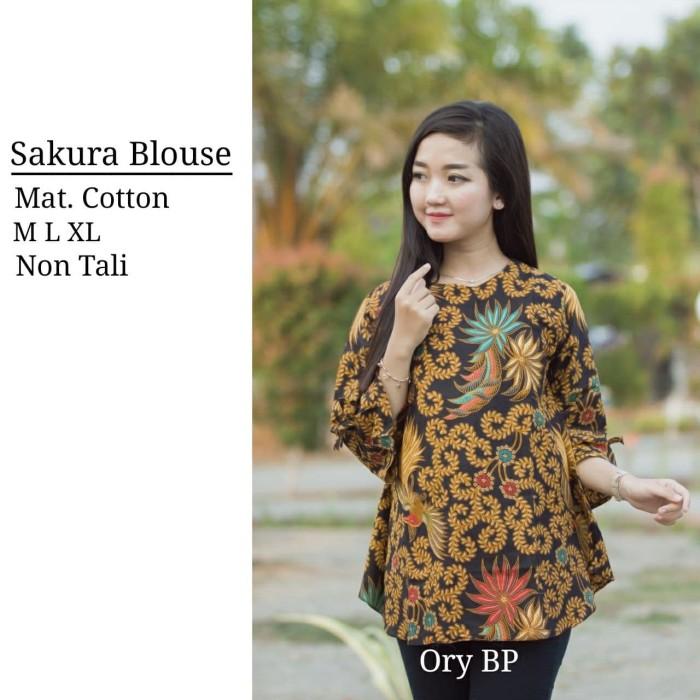 Jual Blouse Batik Atasan Wanita Baju Batik Wanita Seragam Batik Modern Kab Pekalongan Batik Zamzam Tokopedia