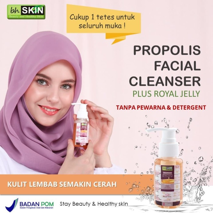 Jual [Original] BHSKIN Propolis Facial Cleanser Plus Royal Jelly - Kab   Banyuwangi - BH SKIN Store | Tokopedia