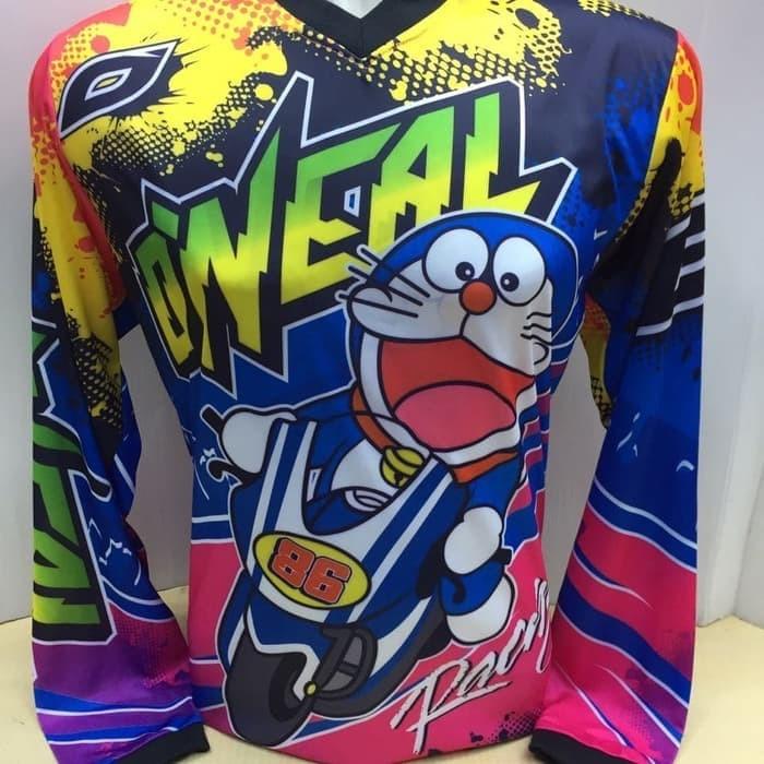 ... harga Kaos jersey motor cross-baju kaos balap motor oneal doraemon 804 pjang Tokopedia.