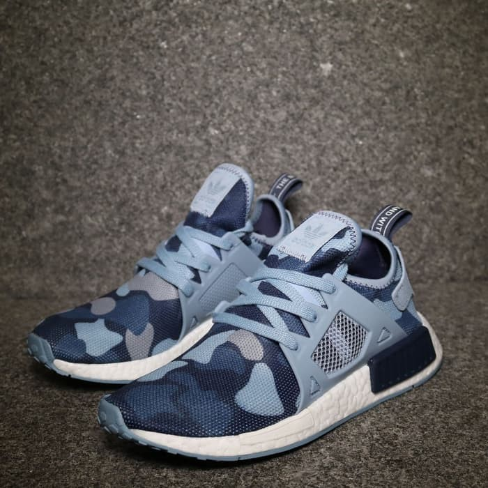 cd6f9c97e Jual ADIDAS NMD XR1 Camo Blue Duck High Premium Original Sepatu ...