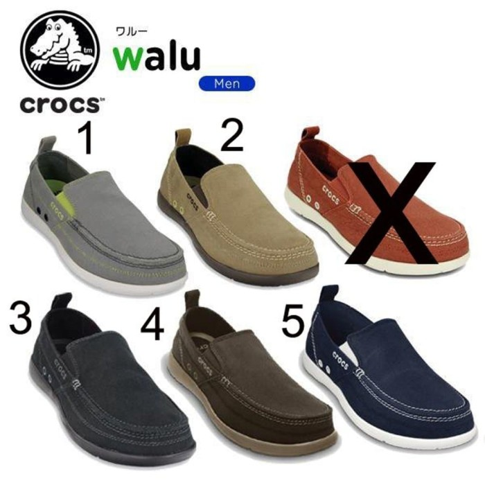 Jual Promo Diskon Sepatu Crocs Pria Walu Men - Pria Maju Style ... c2c9fb4f61
