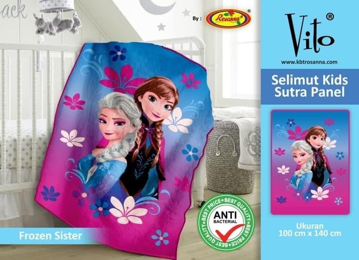 Selimut Vito Kids Sutra Panel 100x140 Motif Frozen Sister
