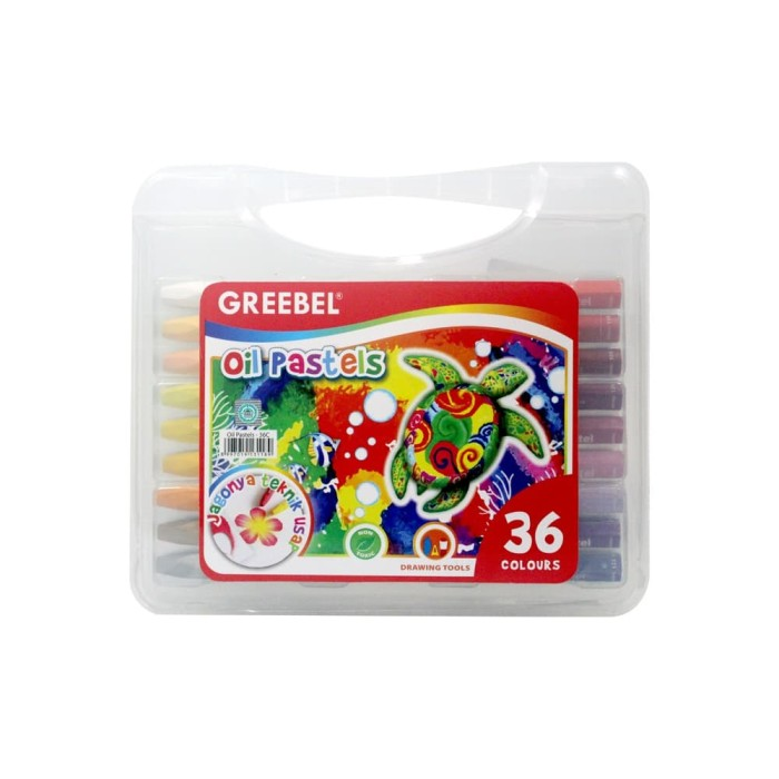 OFF-69 | GREEBEL 36 WARNA Crayon Oil Pastel Set 36 Color Alat Kesenian