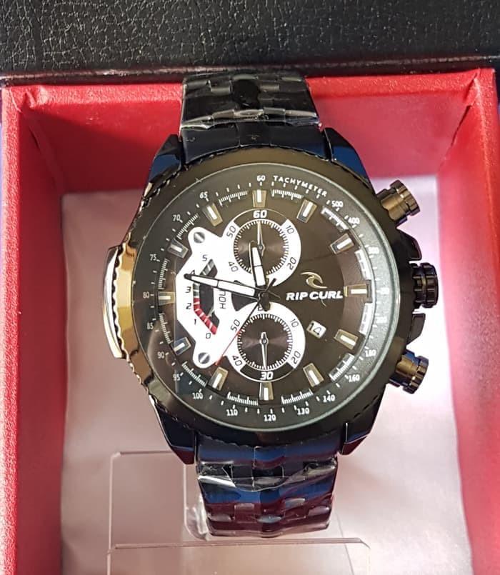 Jam Tangan Pria RIPCURL Rantai A1481 Black