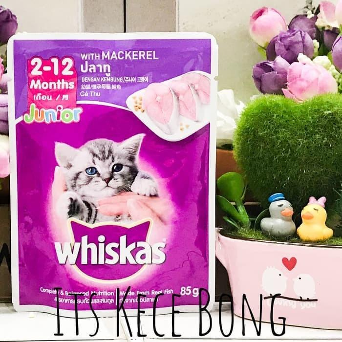 [POUCH] Whiskas Pouch Junior Kitten Mackerel 85gr /Makanan Anak Kucing