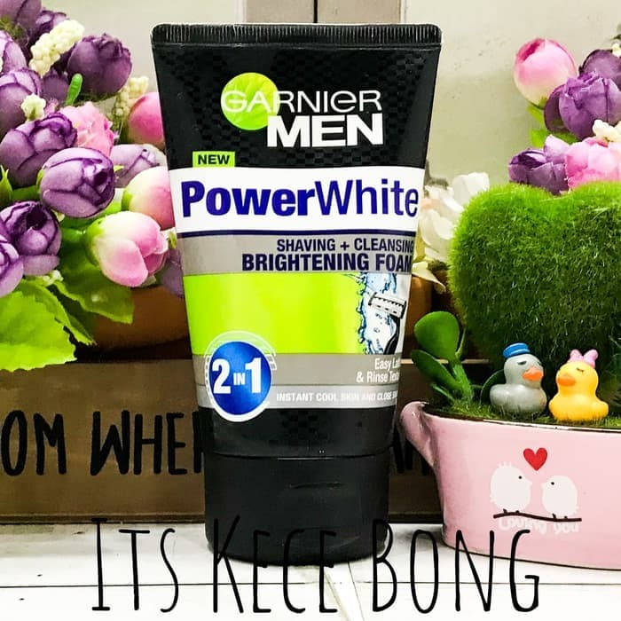 [BESAR] Garnier Power White Shaving + Cleansing Brightening Foam 100ml